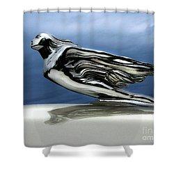 1941 Cadillac Emblem Abstract Shower Curtain by Peter Piatt