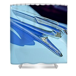 1941 Chevrolet Hood Ornament Shower Curtain by Jill Reger