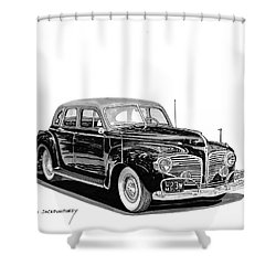 Shower Curtain featuring the painting 1941 Dodge Town Sedan by Jack Pumphrey
