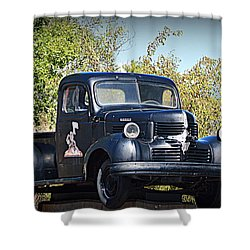 Shower Curtain featuring the photograph 1941 Dodge Truck by AJ Schibig