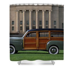 1941 Ford Super Deluxe Country Squire Woody Station Wagon Shower Curtain