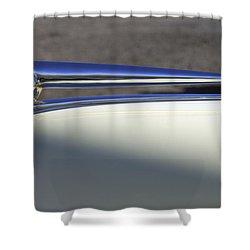 1941 Lincoln Continental Cabriolet V12 Hood Ornament Shower Curtain by Jill Reger