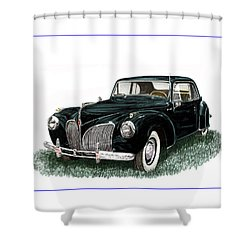 1941 Lincoln Continental Mk 1 Shower Curtain by Jack Pumphrey