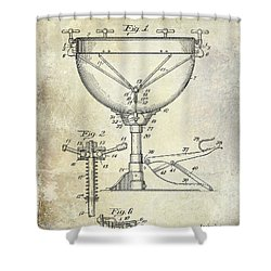 1941 Ludwig Drum Patent  Shower Curtain