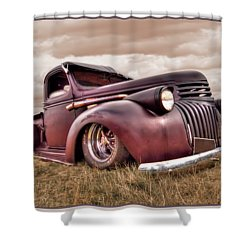 1941 Rusty Chevrolet Shower Curtain by Gill Billington