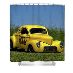 1941 Willys Coupe Shower Curtain by Tim McCullough