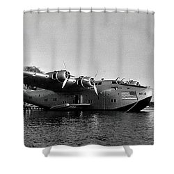 1942 China Clipper Flying Boat In Hawaii Shower Curtain
