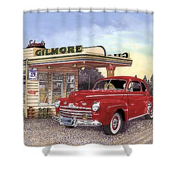 1946 Ford Deluxe Coupe Shower Curtain by Jack Pumphrey
