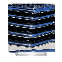 1947 Chevy Fleetline Aero Grill Shower Curtain