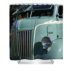 1947 Ford Cab Over Truck Shower Curtain by Mary Deal