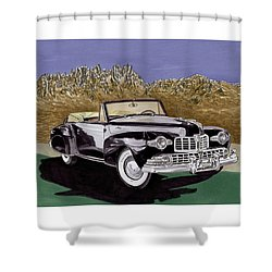 1947 Lincoln Continental Mk I Shower Curtain by Jack Pumphrey