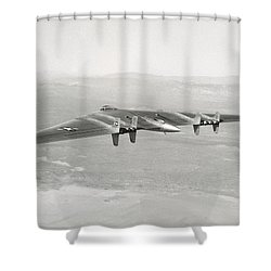 Shower Curtain featuring the photograph 1947 Northrop Flying Wing by Historic Image