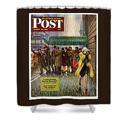 1947 Saturday Evening Post Magazine Cover Shower Curtain