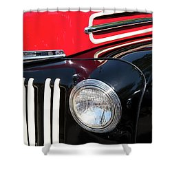 1947 Vintage Ford Pickup Truck Shower Curtain by Theresa Tahara