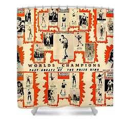1947 World Champions And Past Greats Of The Prize Ring Shower Curtain