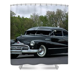 1948 Buick Shower Curtain by Tim McCullough