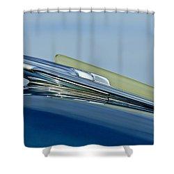 1948 Chevrolet Fleetline Hood Ornament Shower Curtain by Jill Reger