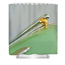 1948 Lincoln Continental Hood Ornament 4 Shower Curtain by Jill Reger