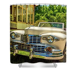 1948 Lincoln Convertible  Shower Curtain by Ken Morris