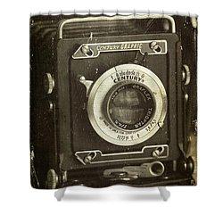 1949 Century Graphic Vintage Camera Shower Curtain