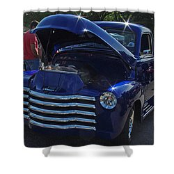 1949 Chevy Blue Pickup Shower Curtain