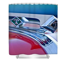 1949 Diamond T Truck Hood Ornament 3 Shower Curtain by Jill Reger