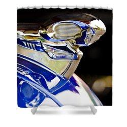1949 Dodge Pickup Hood Ornament Shower Curtain by Jill Reger