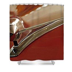 1949 Ford Custom Hood Ornament Shower Curtain by Jill Reger