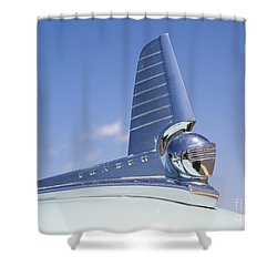 1949 Frazer Manhattan Hood Ornament Shower Curtain