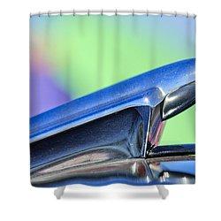 1950 Chevrolet Hood Ornament 3 Shower Curtain by Jill Reger