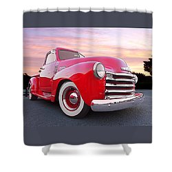 1950 Chevy Pick Up At Sunset Shower Curtain