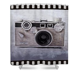1950's Vintage Argus Camera With Filmstrip Border Shower Curtain