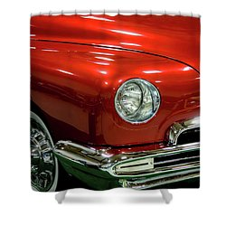 Shower Curtain featuring the photograph 1951 Classic Lincoln Coupe by Tyra OBryant
