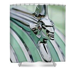 1951 Pontiac Streamliner Hood Ornament 3 Shower Curtain by Jill Reger