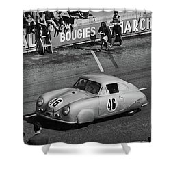 1951 Porsche At Le Mans - Doc Braham - All Rights Reserved Shower Curtain