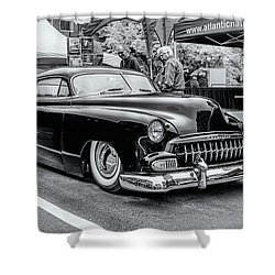 1951 Chevy Kustomized  Shower Curtain by Ken Morris