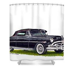 1952 Hudson Hornet Convertible Shower Curtain by Jack Pumphrey
