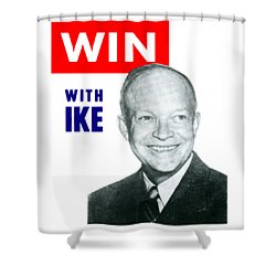 1952 Win With Ike Shower Curtain