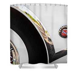Shower Curtain featuring the photograph 1953 Buick Abstract 2 by Dennis Hedberg
