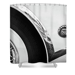 Shower Curtain featuring the photograph 1953 Buick Abstract  by Dennis Hedberg