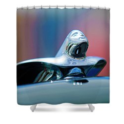 1953 Cadillac Hood Ornament Shower Curtain by Jill Reger
