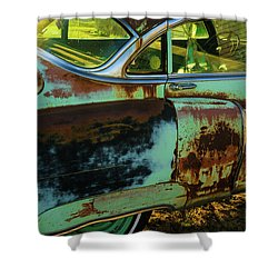1953 Cadillac Rusting Away Shower Curtain