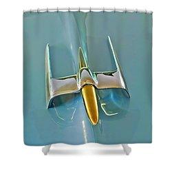 1953 Lincoln Capri Hood Ornament Shower Curtain by Jill Reger
