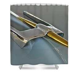 1953 Lincoln Hood Ornament Shower Curtain by Jill Reger