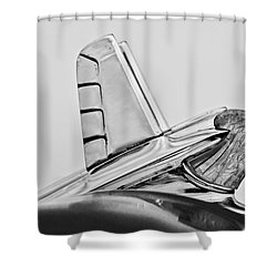 1953 Pontiac Hood Ornament 2 Shower Curtain by Jill Reger
