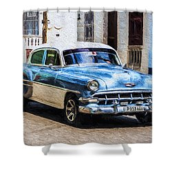 1954 Chevy Cuba Shower Curtain