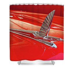 1954 Ford Cresline Sunliner Hood Ornament 2 Shower Curtain by Jill Reger