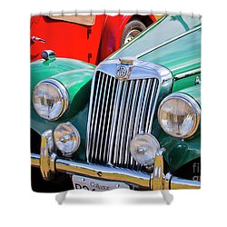 Shower Curtain featuring the photograph 1954 Mg Tf Sports Car by Chris Dutton