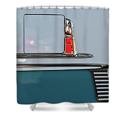 Shower Curtain featuring the photograph 1955 Chevy Belair 2 Door by Jani Freimann