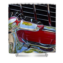 1955 Chevy Coupe Grill Shower Curtain